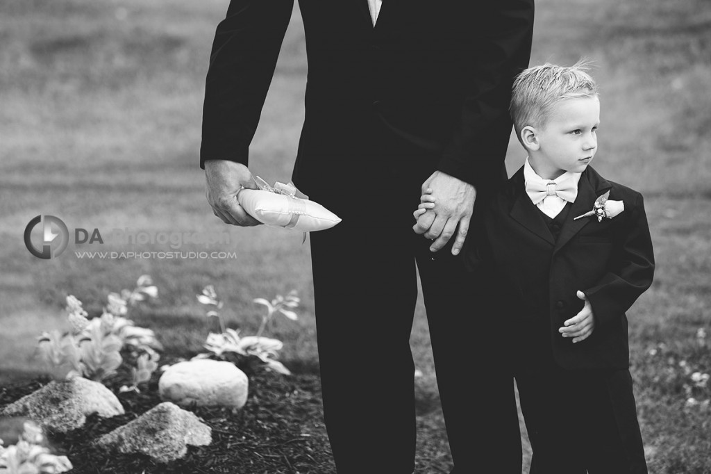 Ring Boy with his father in expectation of the bride - Wedding Photographer by DA Photography , www.daphotostudio.com