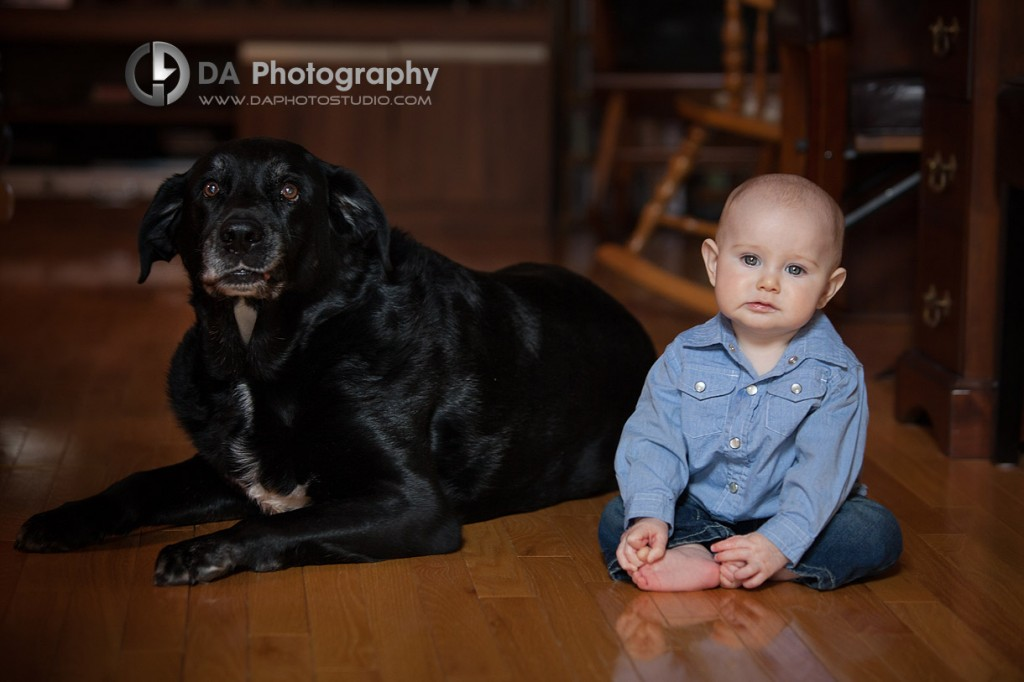 The little boy with his best friend, the dog - Children Photography by DA Photography at Georgetown, ON