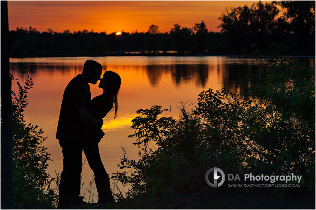 Sunset Engagement Photos in Simcoe