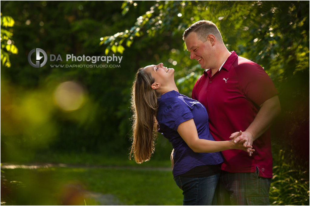 Spring Creative Engagement Photos in Caledon