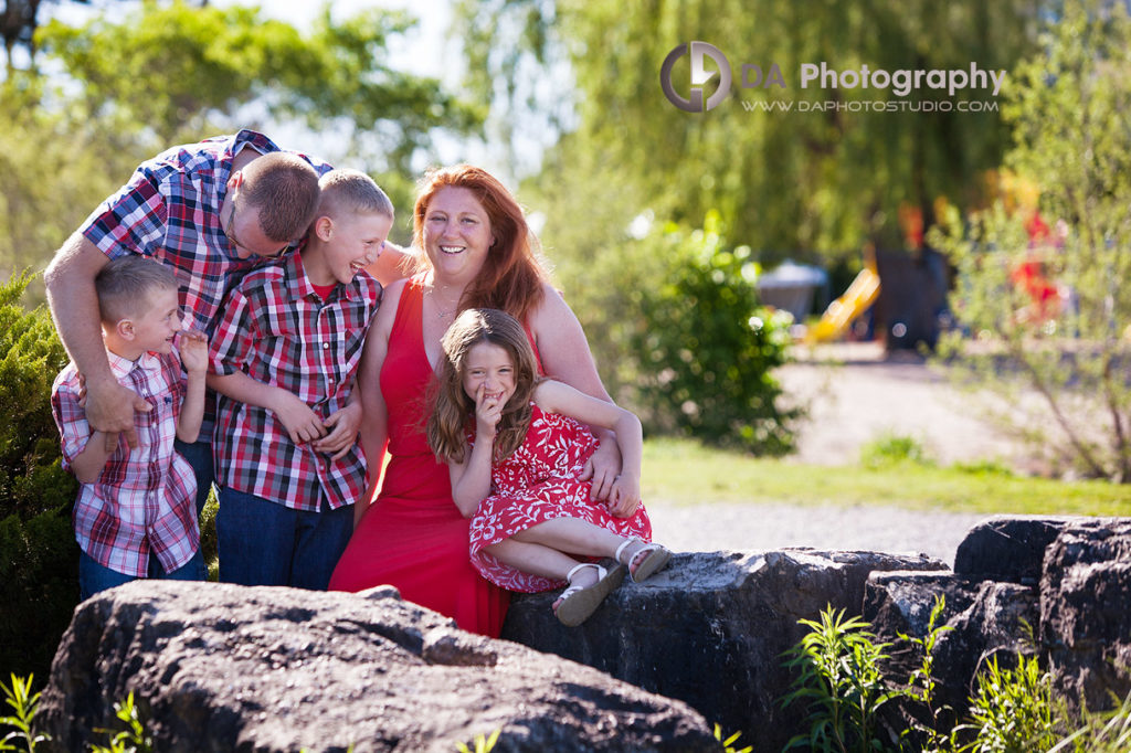 Outdoor Blended Family Photo Session