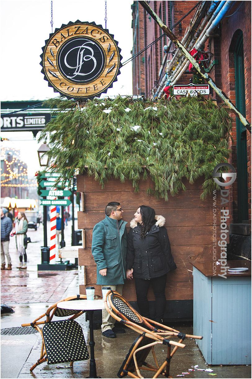 Christmas market engagement Photographers