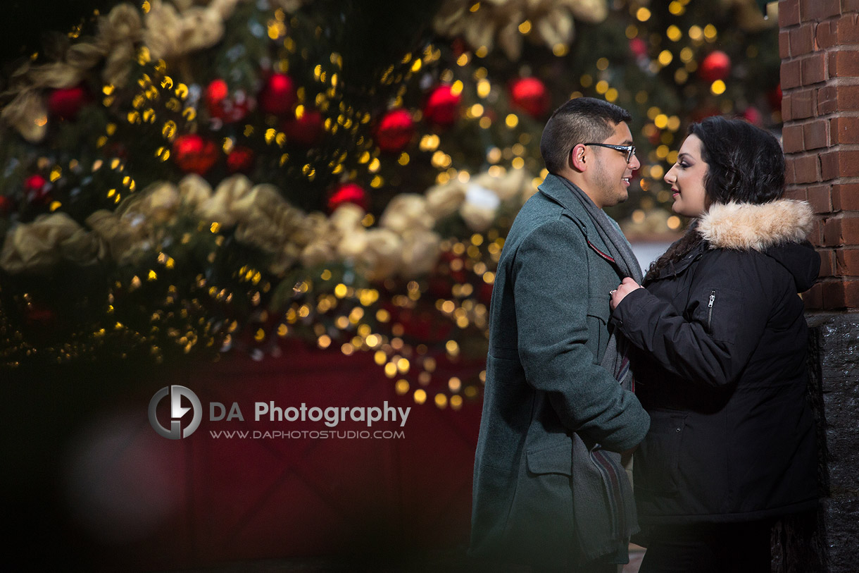 Distillery District Engagement Photography