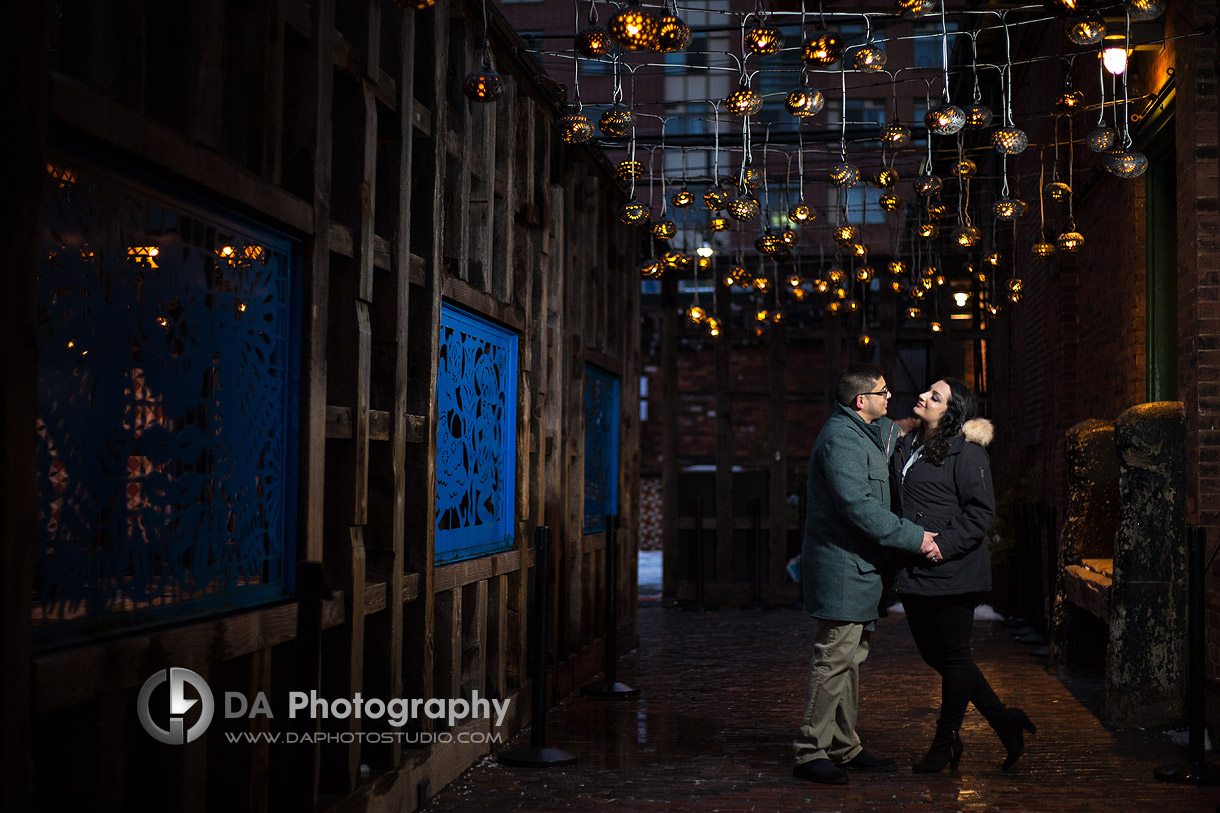 Engagement Photographer for Distillery District in Toronto