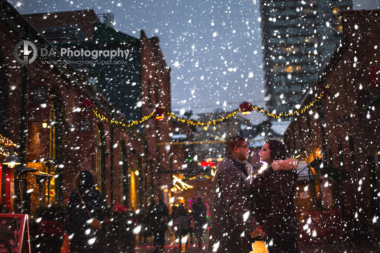 Engagements at Distillery District in Toronto