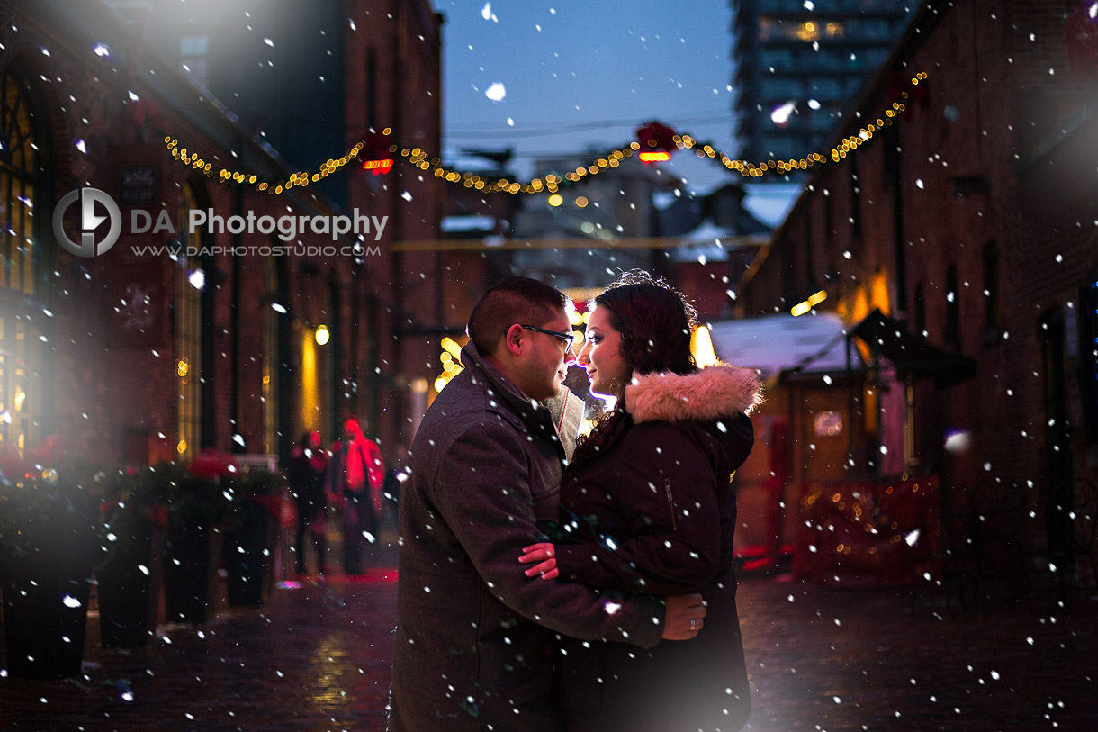 Toronto Christmas market engagement Pictures
