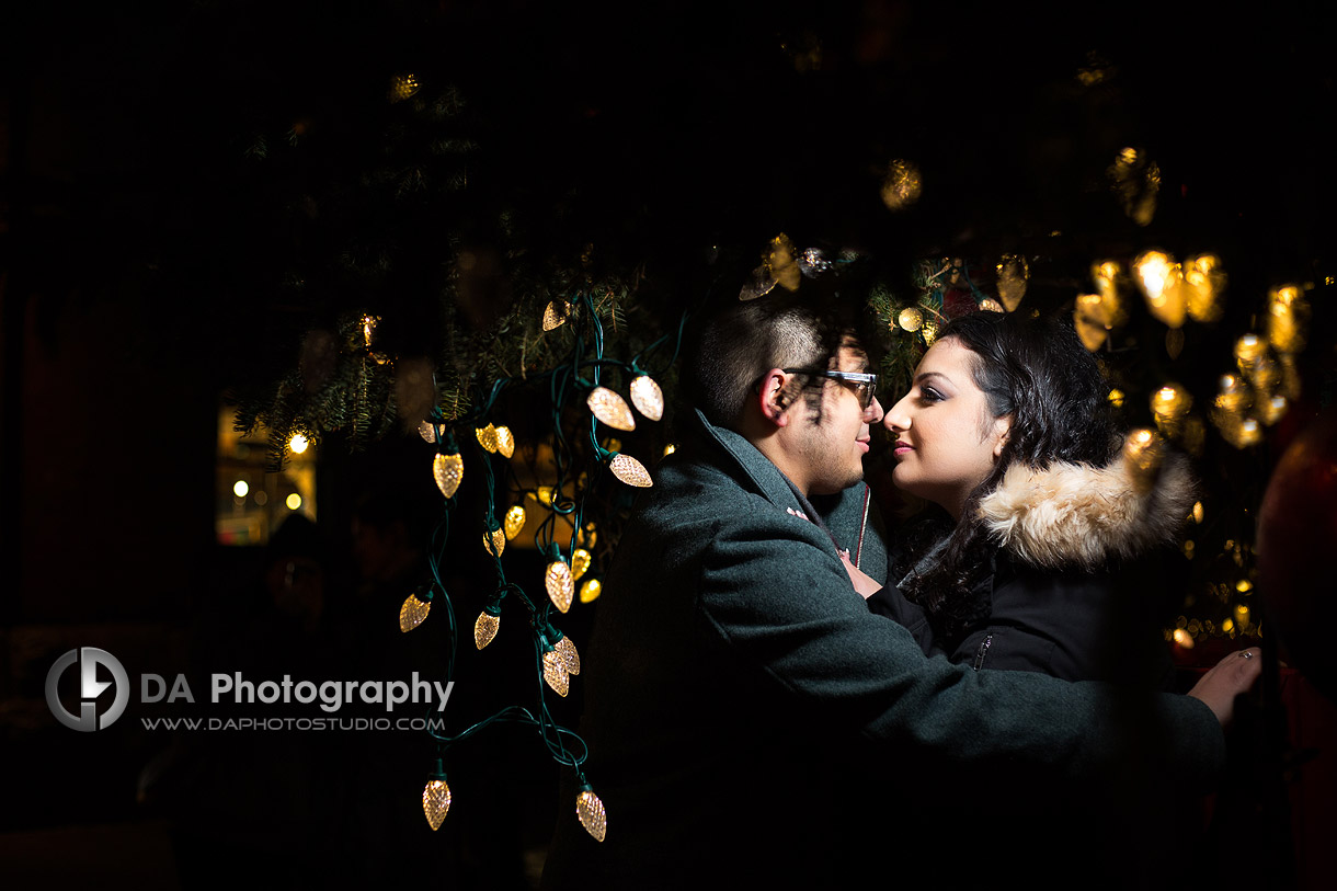 Christmas market engagement Photos