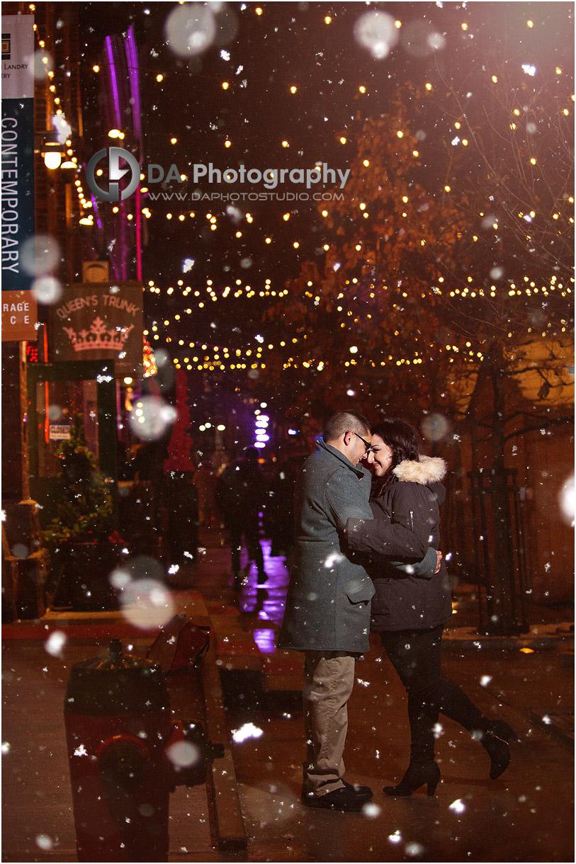 Toronto Christmas market engagement Picture