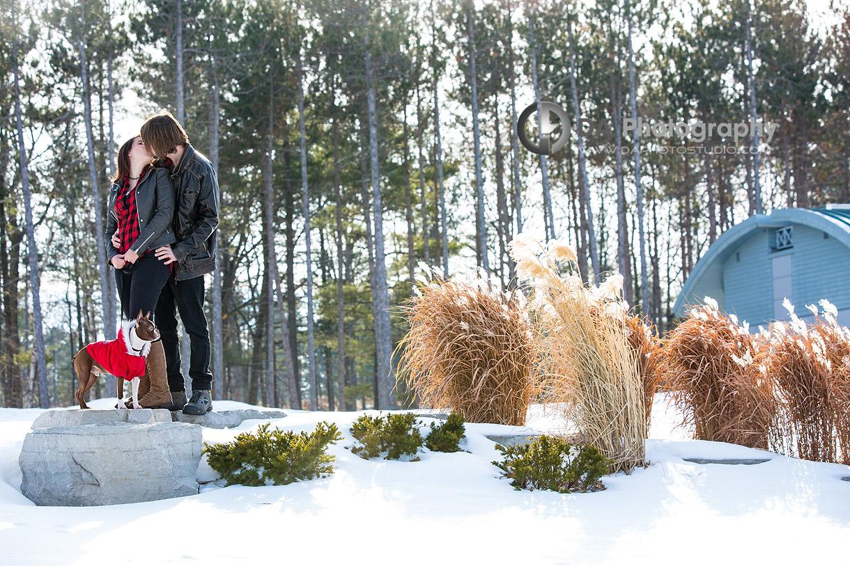 Winter Arboretum Engagement Photography