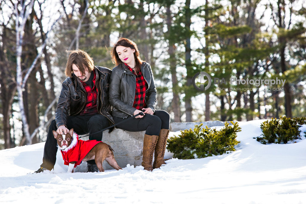 Winter Arboretum Engagement Photography in Guelph