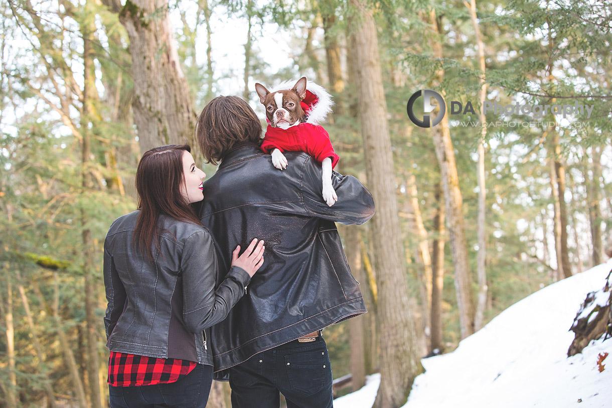 Winter Arboretum Engagement Photographer