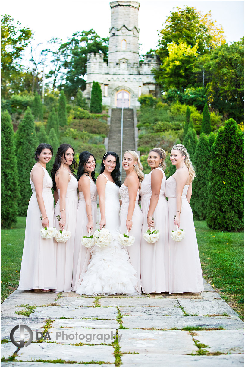 Bridesmaids at Battlefield House Museum in Stoney Creek