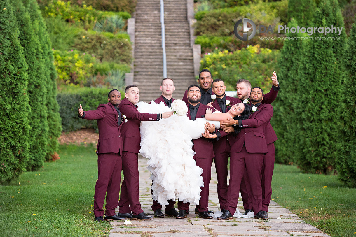 Bride and Groomsman's at Battlefield House Museum