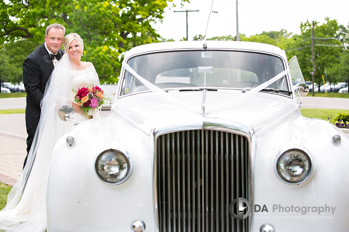 Bride and Groom at Burlington Golf and Country Club