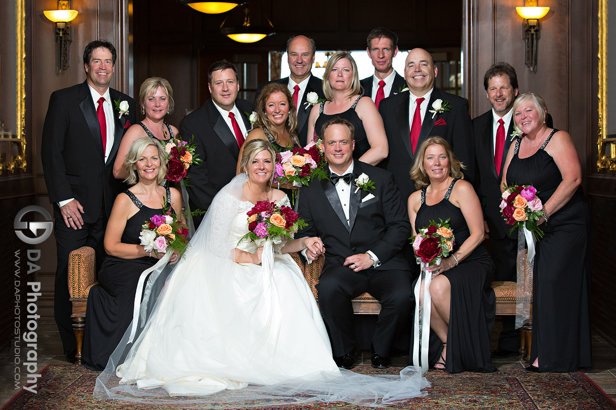 Bridal party at Burlington Golf and Country Club Wedding