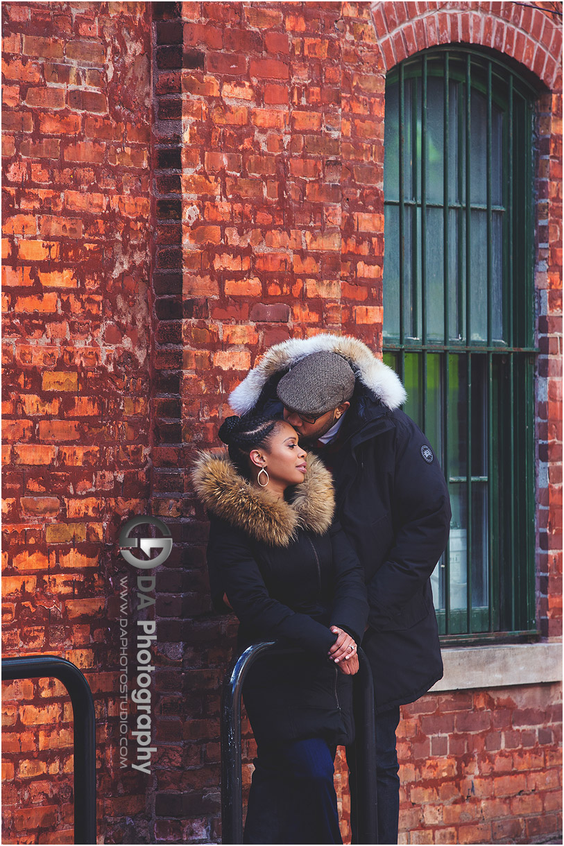 Engagement Photos at Distillery District in Toronto