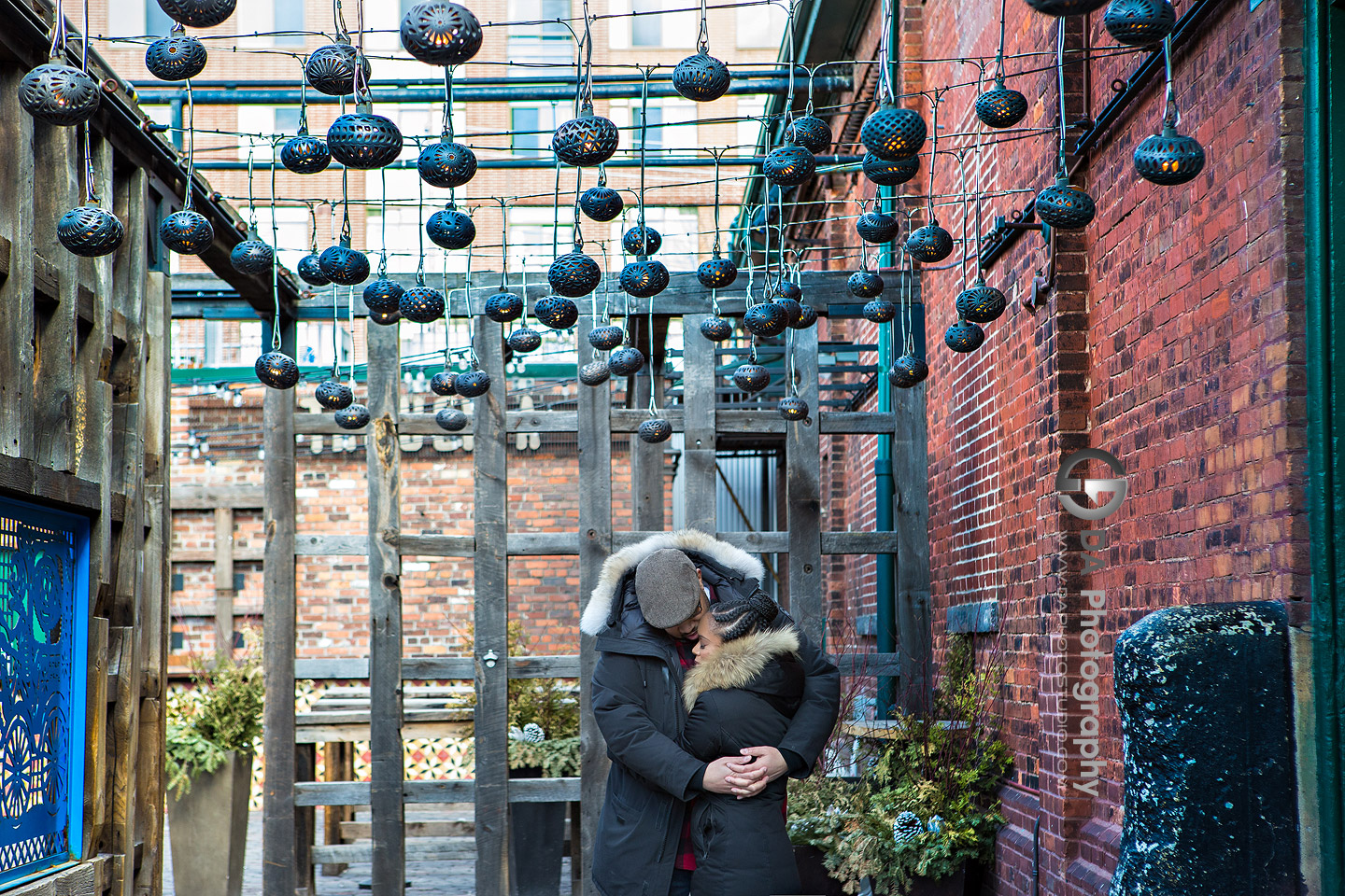 Engagement Photos at Distillery District