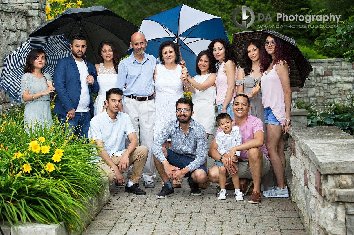 Group Family Photos in the rain