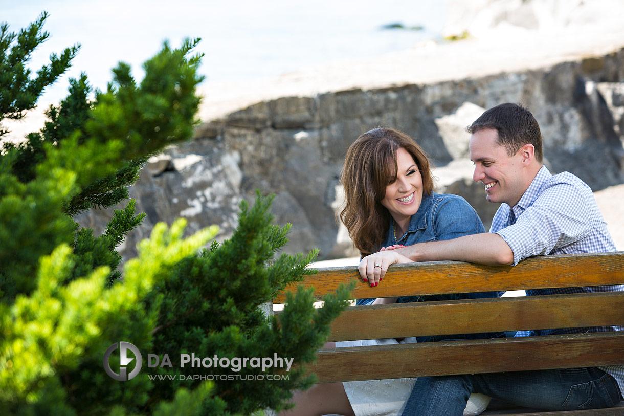Oakville engagement photo at Gairloch Gardens