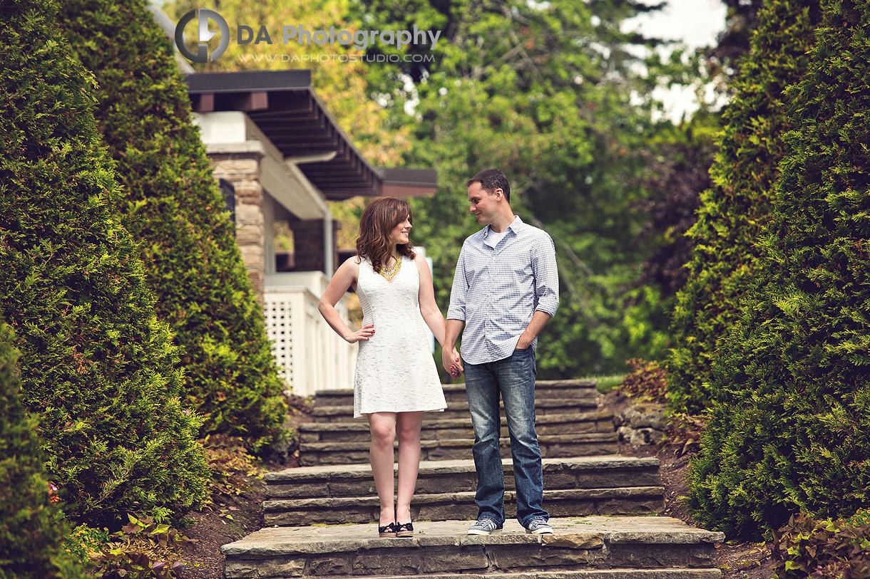 Oakville Engagement Photographers at Gairloch Gardens