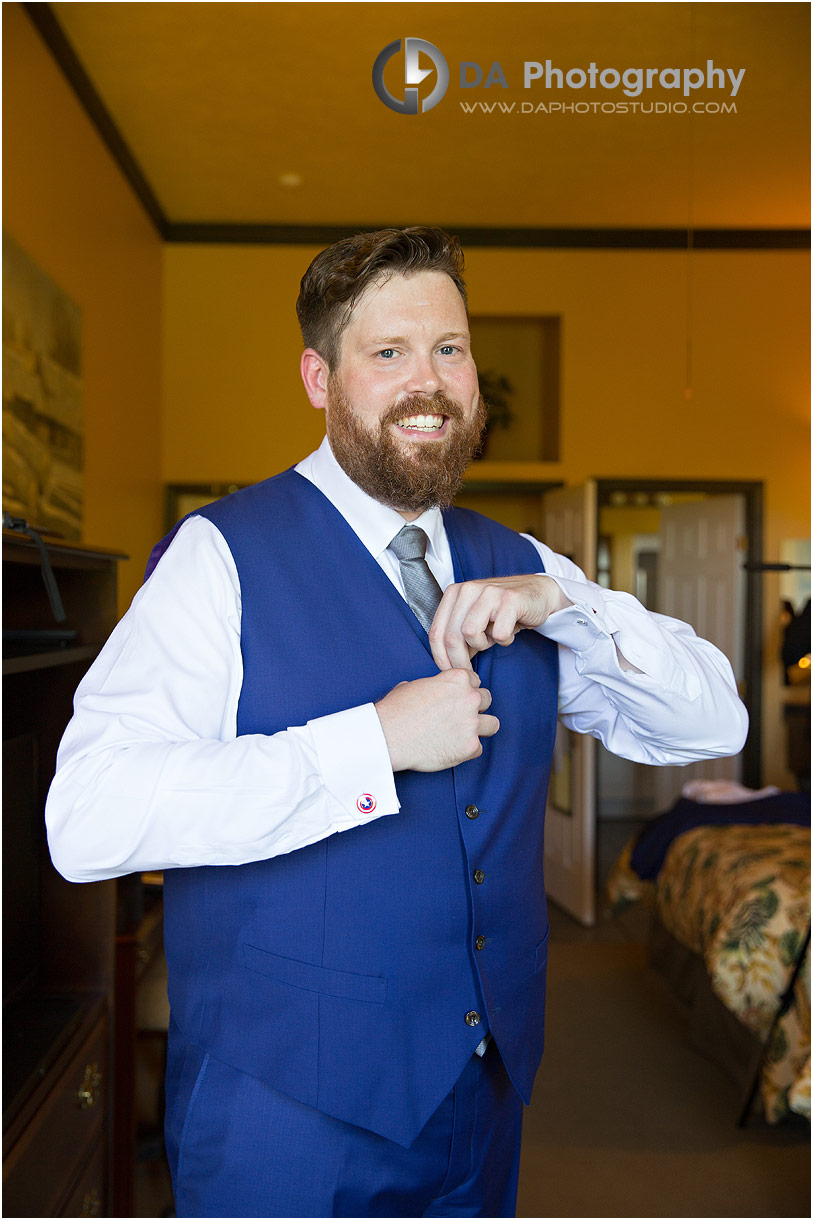 Groom at The Falls Inn and Spa