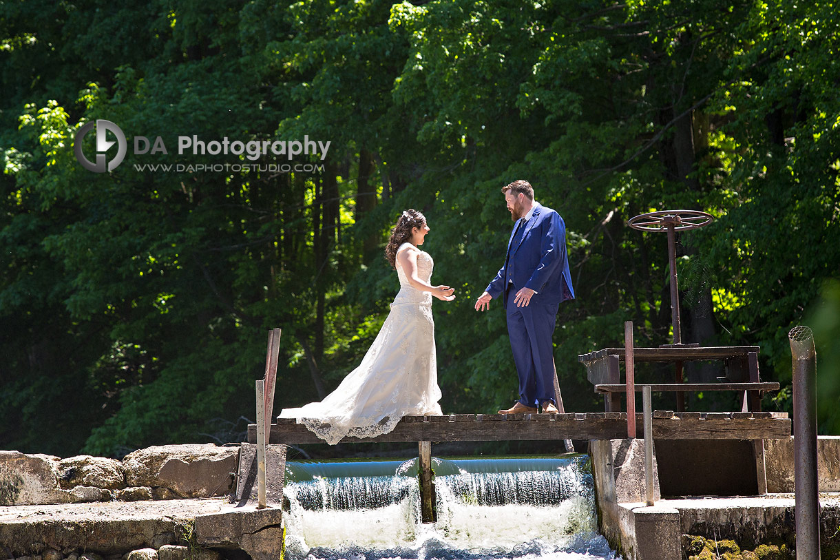 Bride and Groom at The Falls Inn and Spa