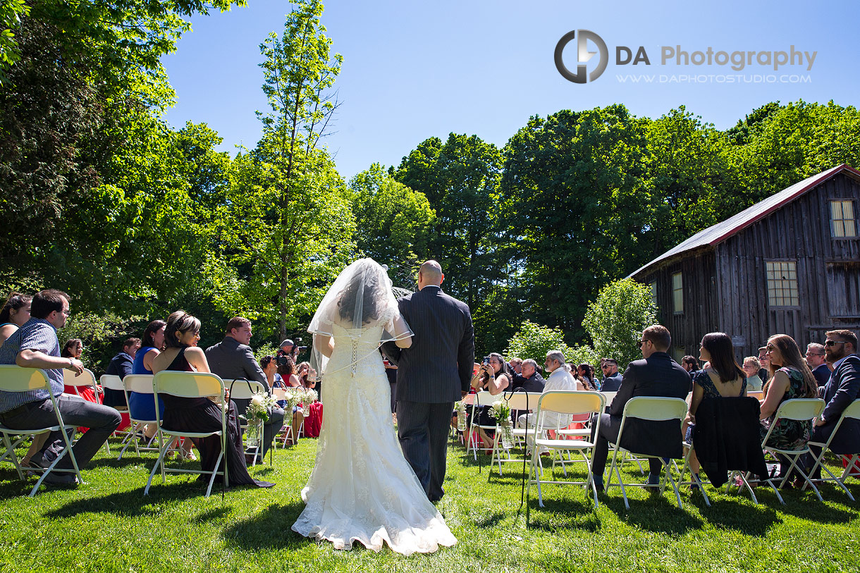 Wedding Ceremony at The Falls Inn and Spa
