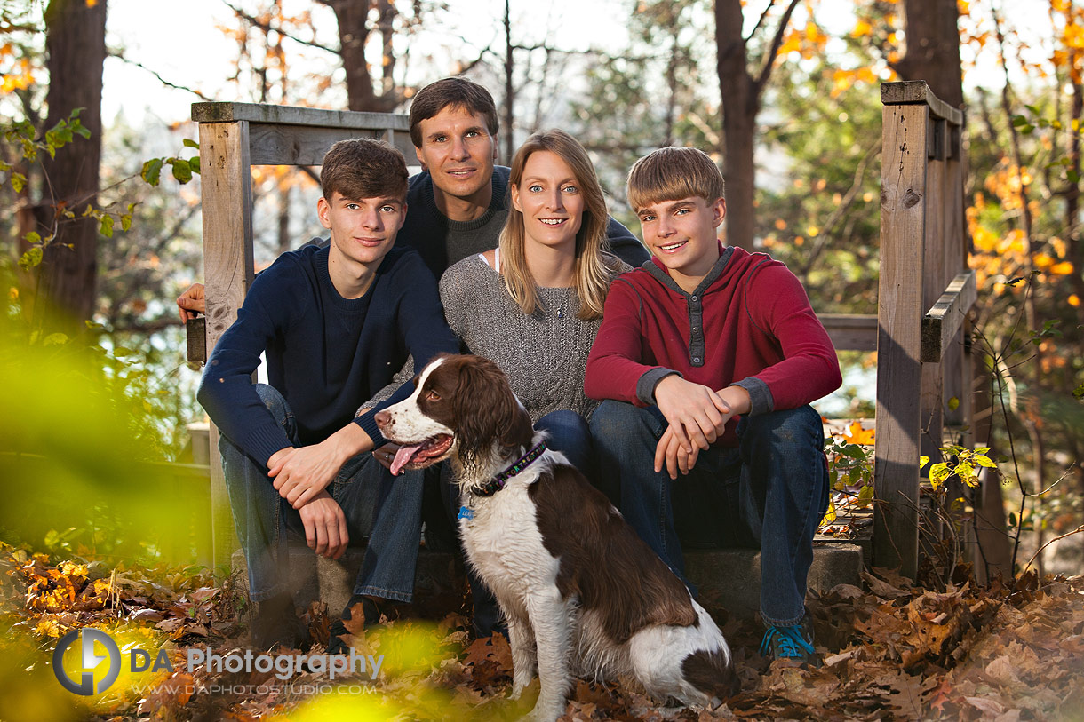 Family Session with dog at Heart Lake Conservation Area