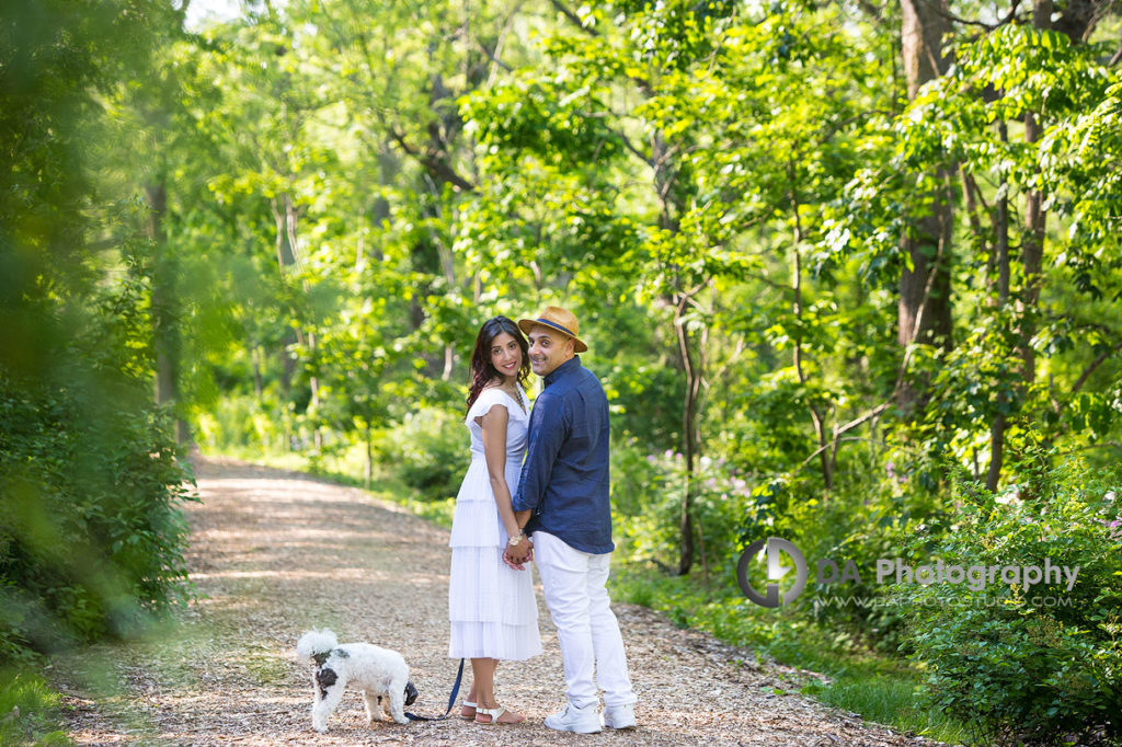 Summer engagement photos in Burlington