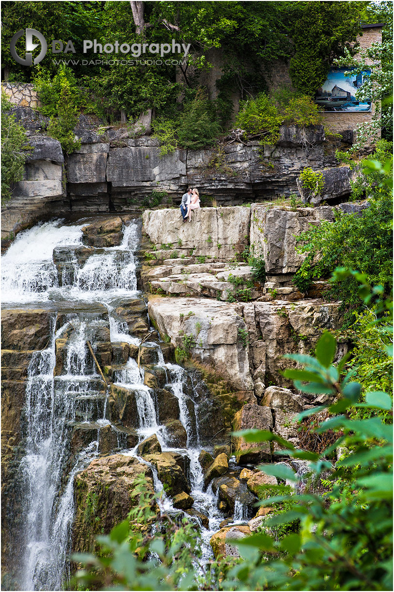 Waterfalls Engagement Pictures in Owen Sound