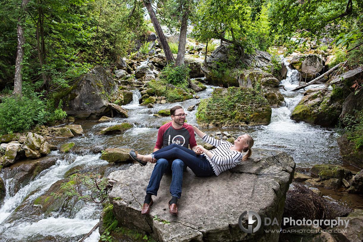 Fun Engagement Session at Inglis Falls