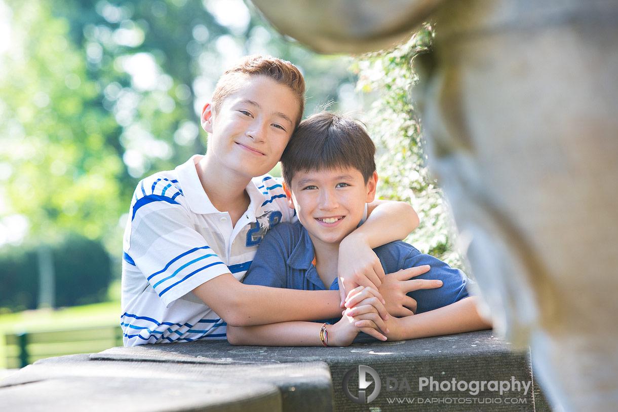 Summer Siblings Portrait