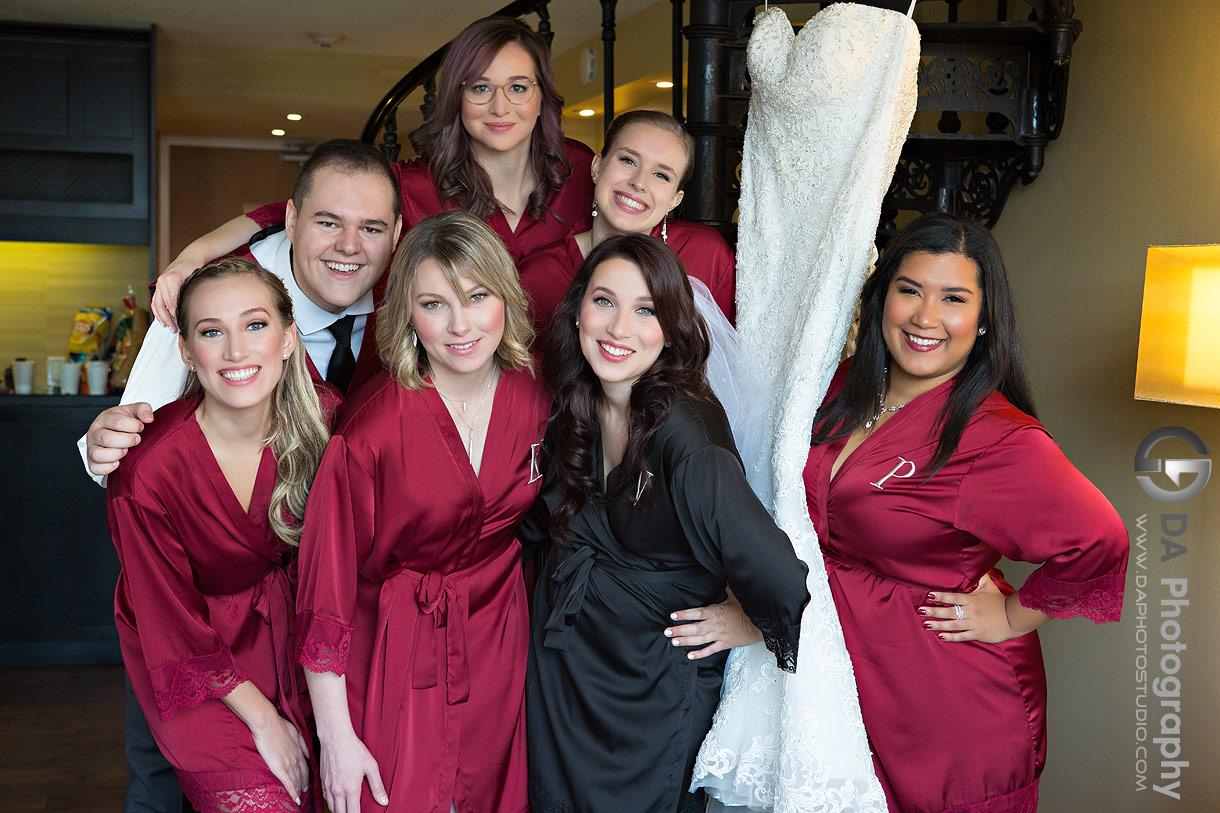 Bridesmaids at Hockley Valley