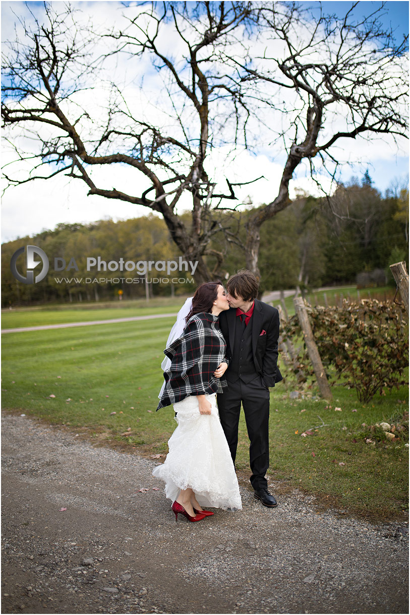 Bride and Groom in Orangeville