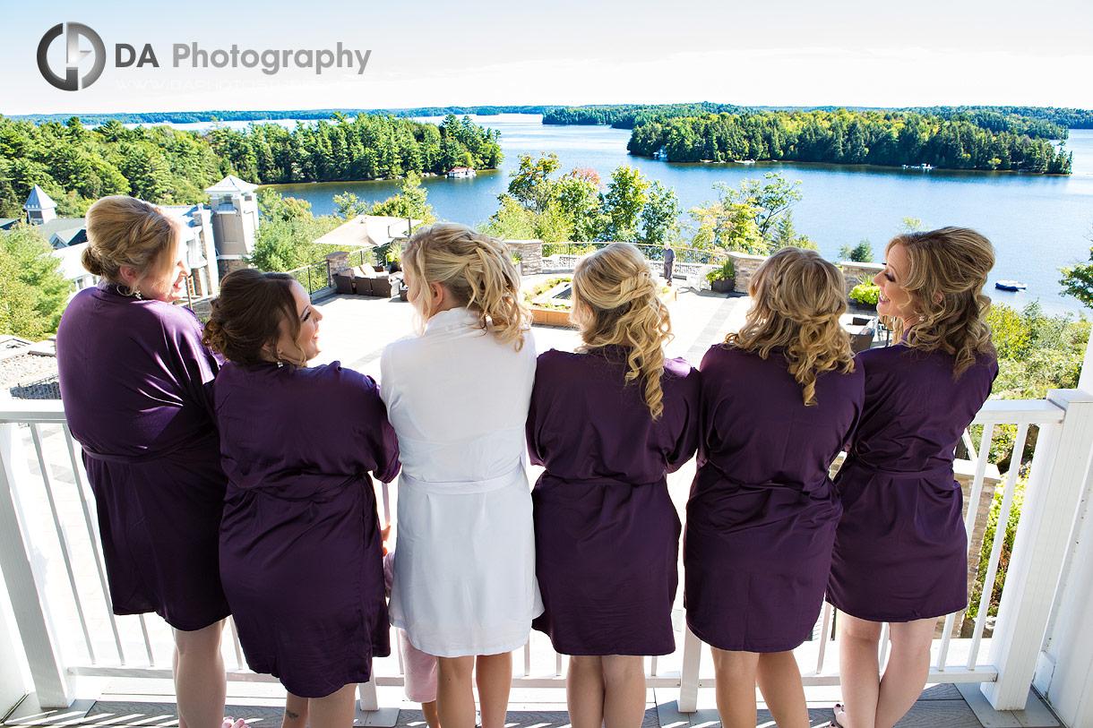 Bridesmaids at JW Marriott in Muskoka