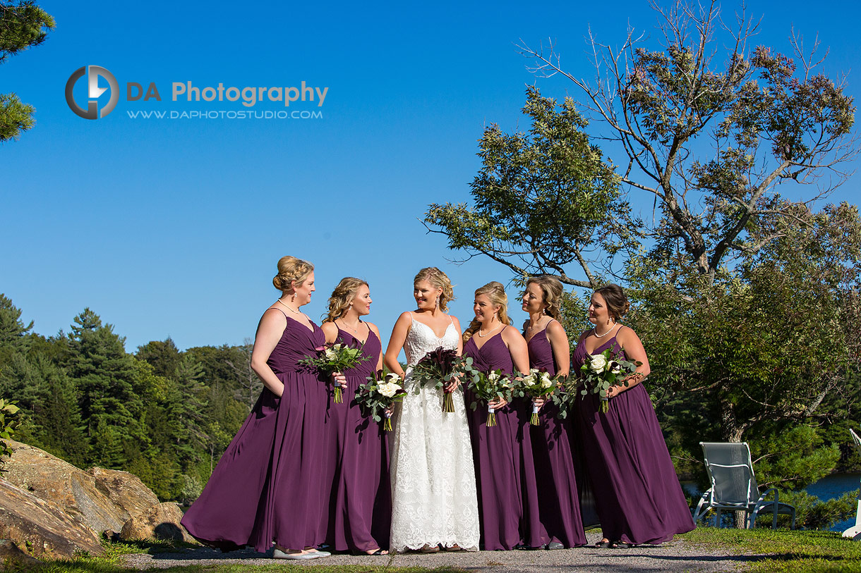 Bridesmaids in Muskoka at JW Marriottt The Rosseau Resort & Spa