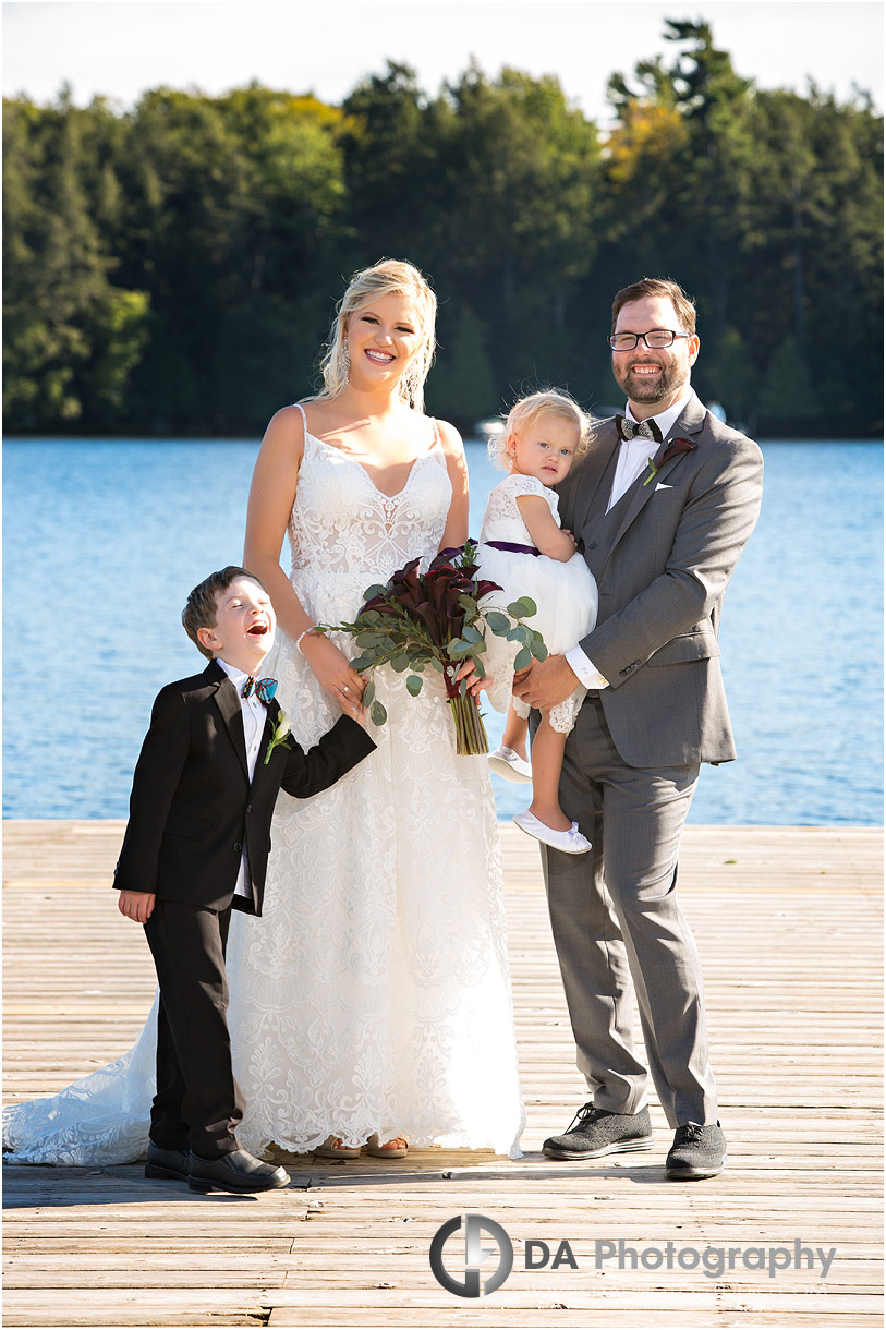 Family photos on a wedding day at JW Marriott The Rosseau Muskoka