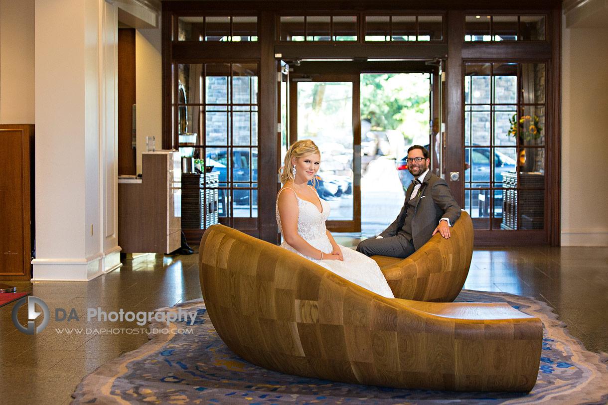 Bride and Groom at JW Marriot tThe Rosseau Muskoka