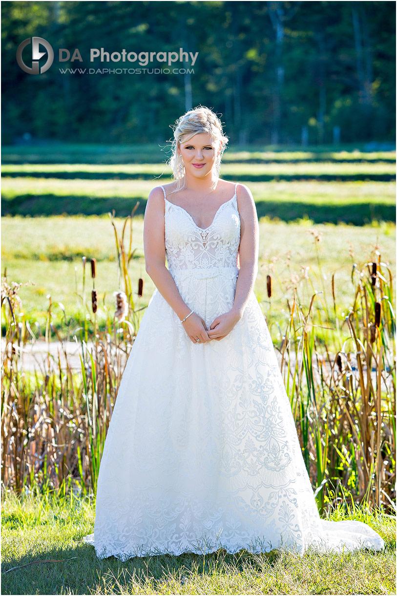 Bride at Muskoka Lakes farm and winery