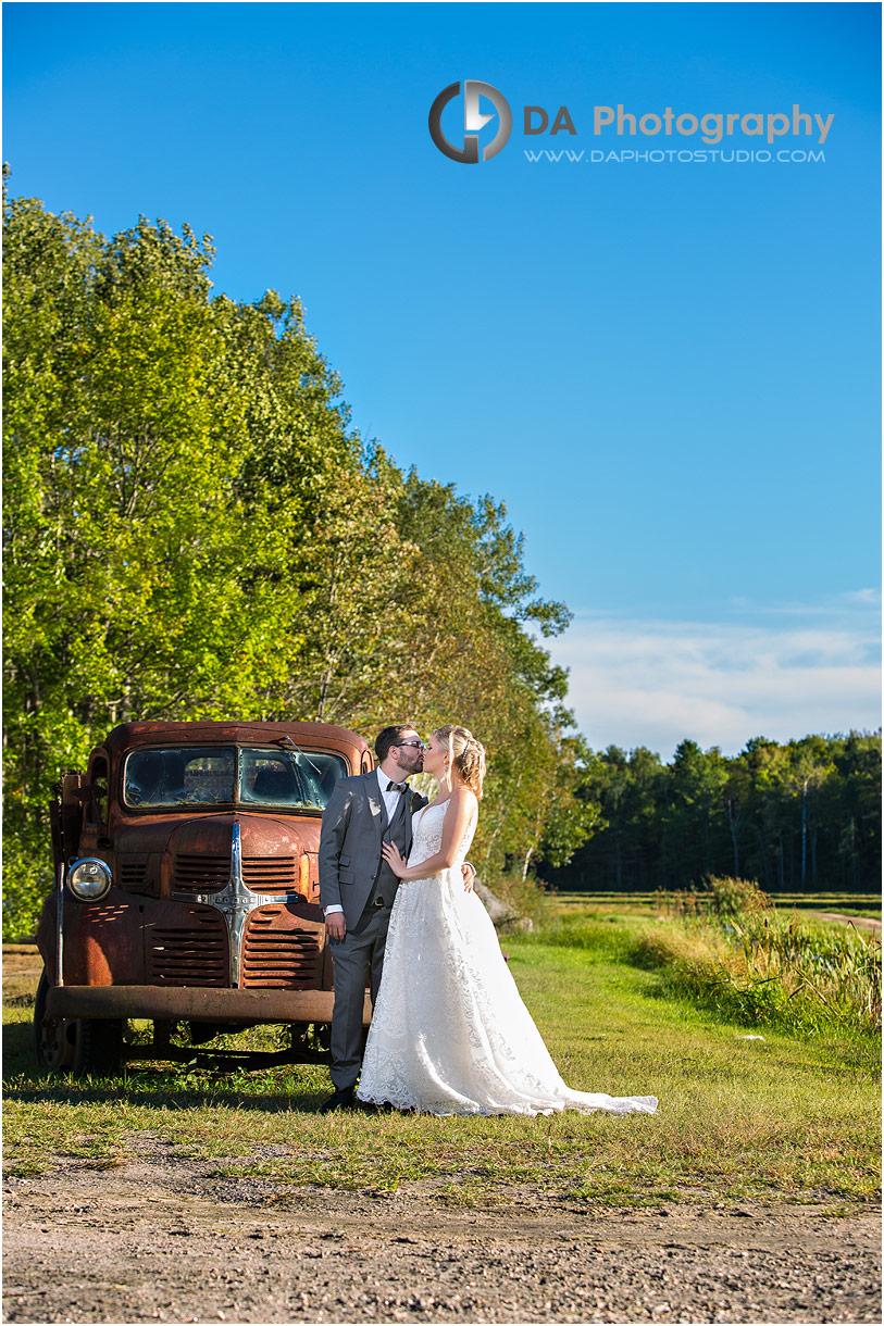 Wedding photos at Bride at Muskoka Lakes farm and winery