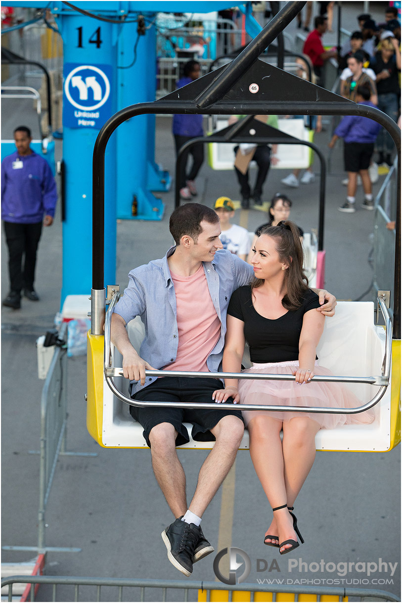 Engagement Photo at CNE in Toronto