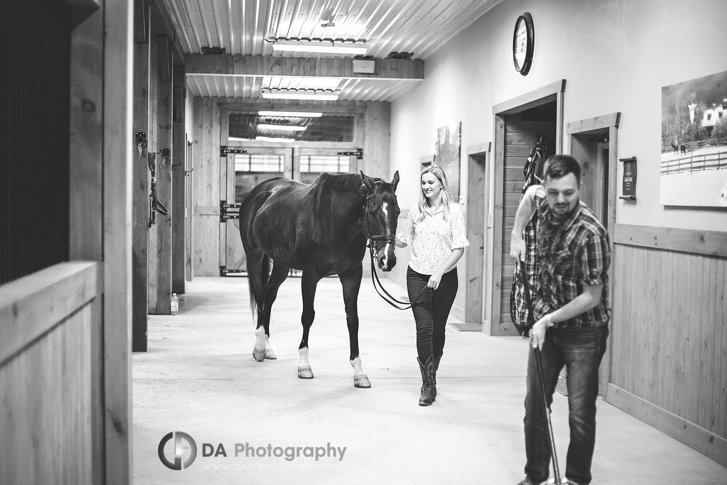 Engagement Photographer for Horse Stable