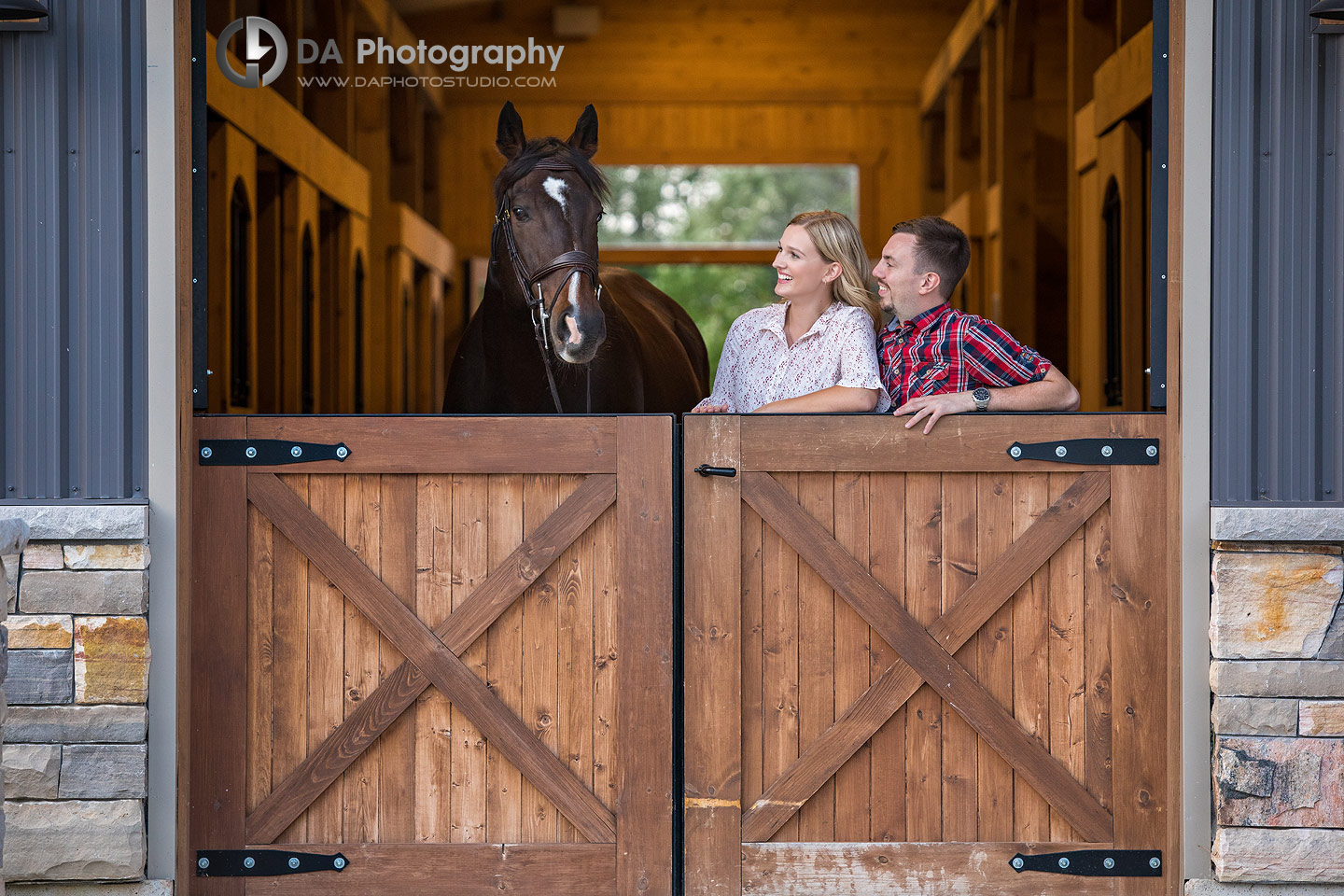 Horse Stable Engagement Photographer