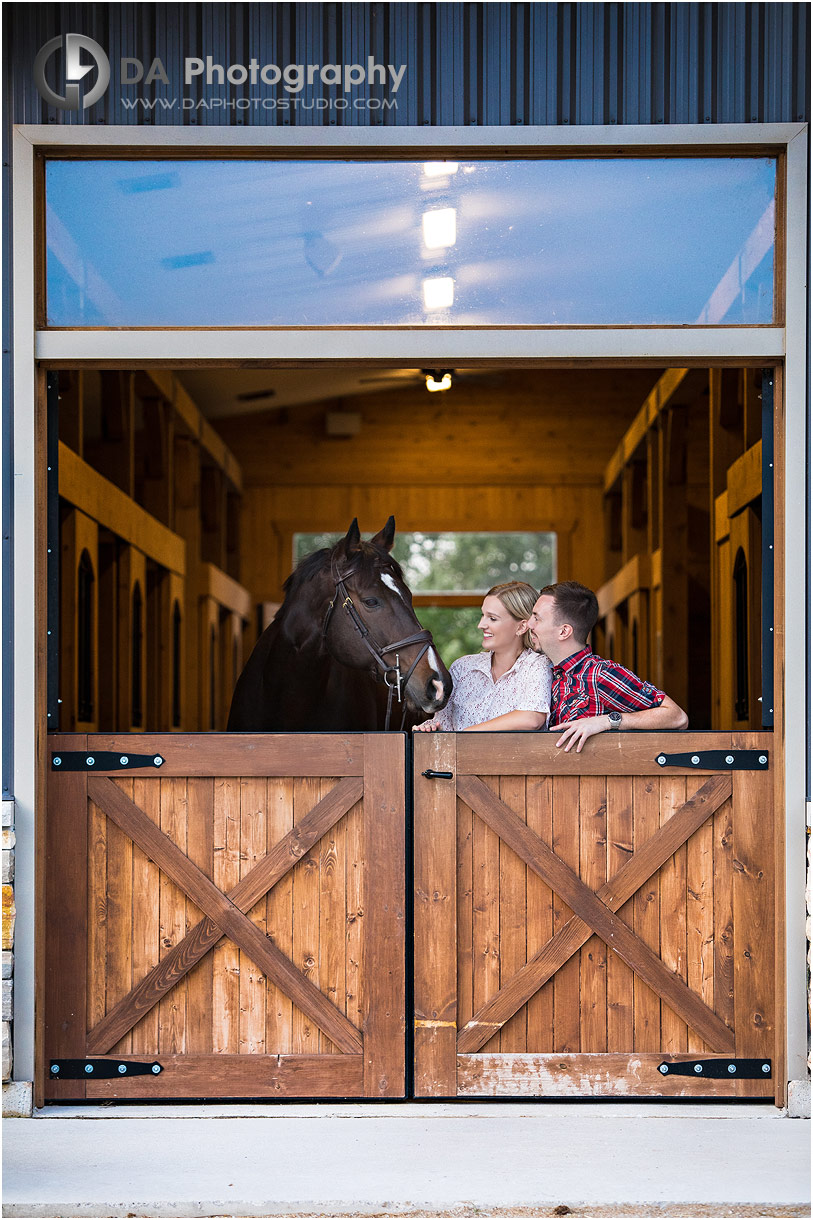 Engagement Photographs at Horse Stable