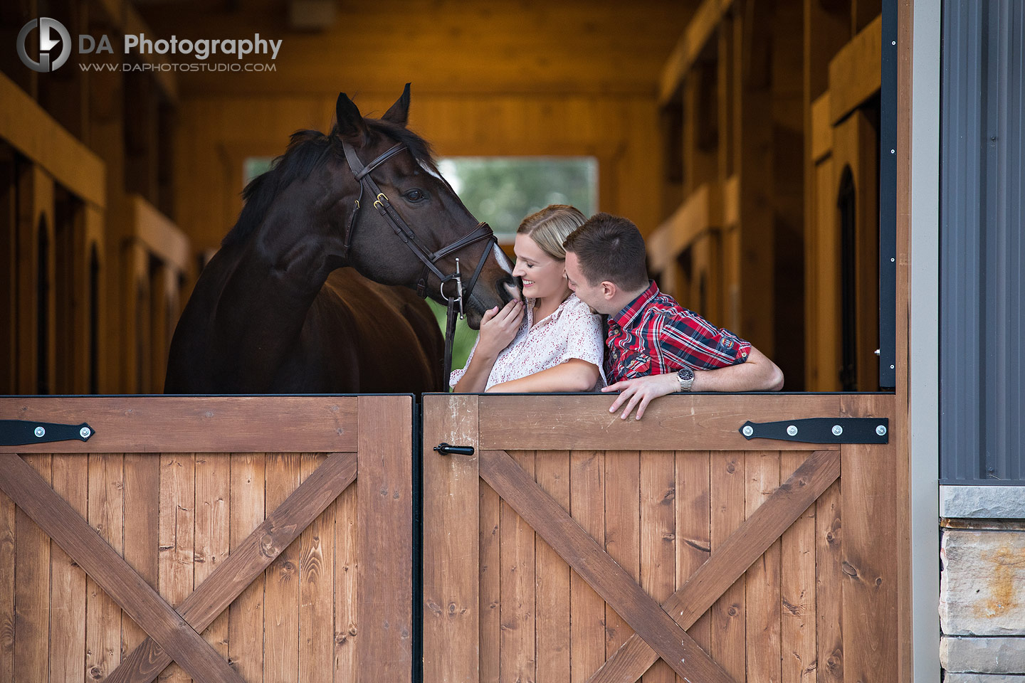 Engagement Photography at Horse Stable