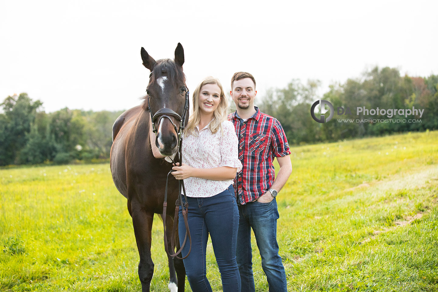 Horse Stable Engagement Photo