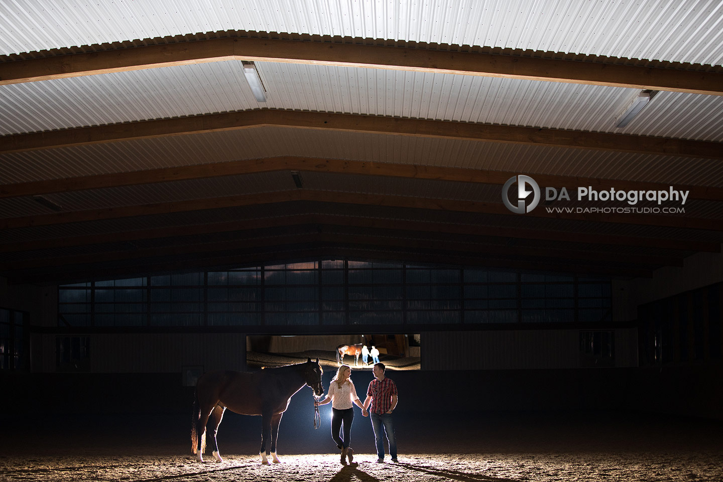 Engagement Photos at Horse Stable