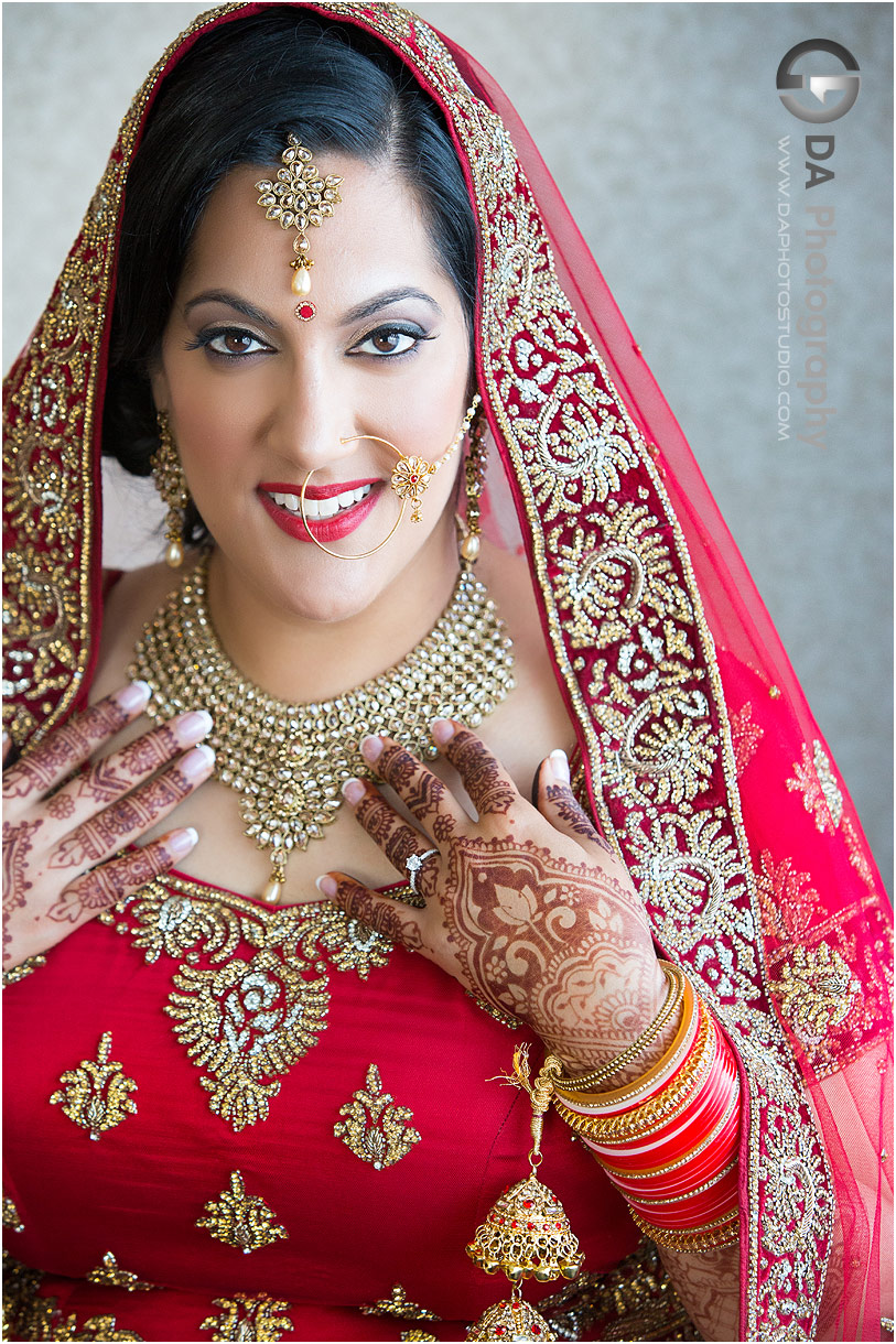 Bride at Traditional Indian wedding