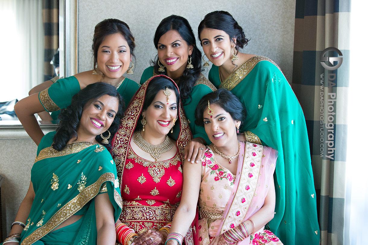 Bridesmaid Dresses at Traditional Indian wedding