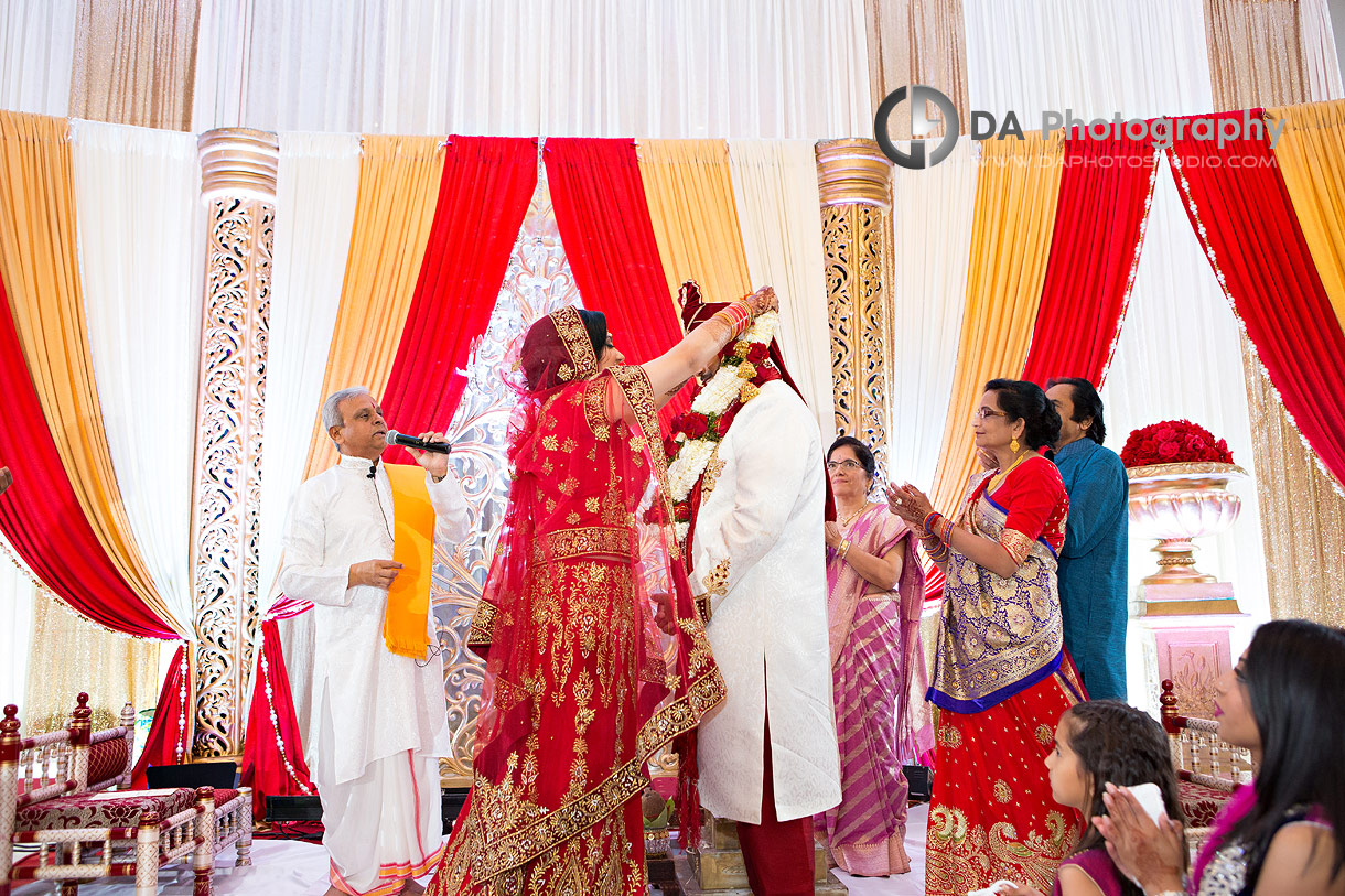 Bride and Groom at Traditional Indian Wedding